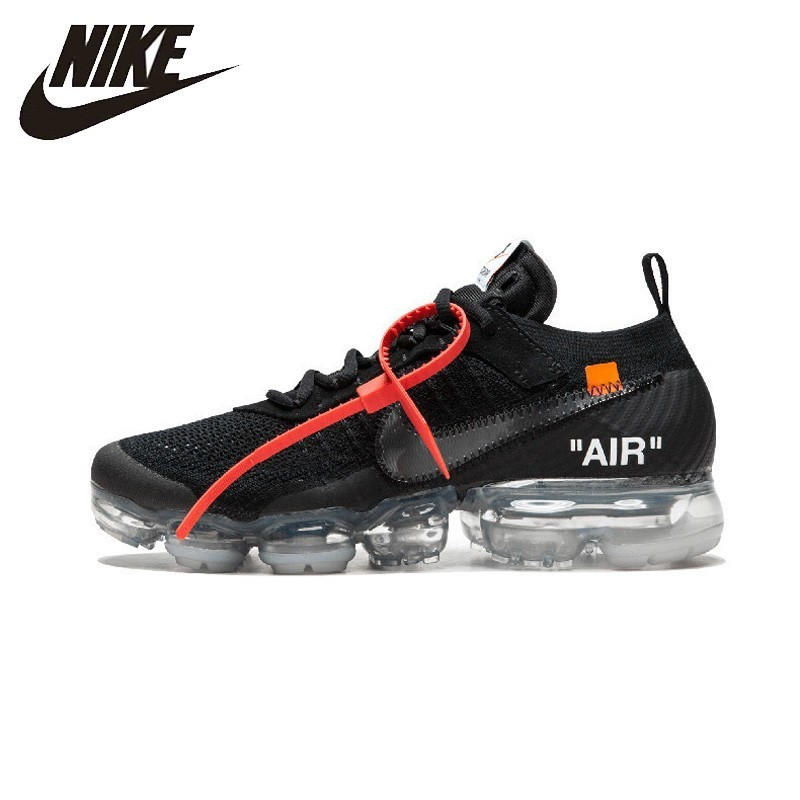NIKE Off White X Nike Air Vapor Max OW Unisex Running Shoes Footwear Super Light Comfortable Sneakers For Men Shoes # AA3831