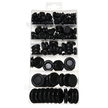 170pcs/set Car Electrical Cable Wire Rubber Grommet Gasket Kit Hardware Black Rubber Grommet Firewall Hole Plug Decoration
