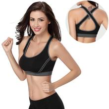 Sexy Women Breathable High Elastic Sports Bra For Jogging Yoga Racerback Padded Underwear Tennis Vest Top