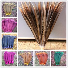 Plumas de la cola de faisán dorado Natural para mujer, plumas de faisán de cola de 50 55cm / 20 22 pulgadas/Faisán de Amherst, 20/100 Uds.