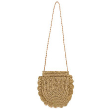ABDB-Women Beach Bag Round Straw Crochet Shoulder Summer Bag Purse(China)