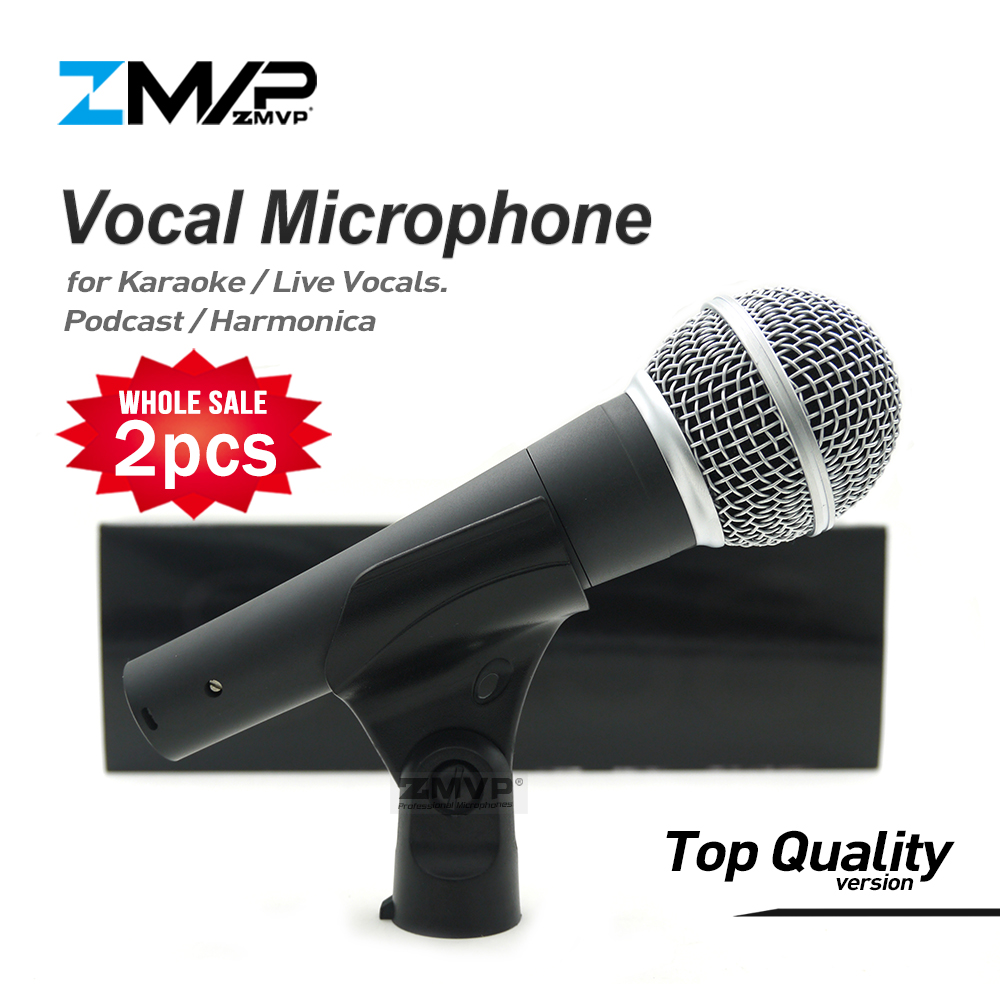 2pcs Top Quality Version SM58LC Real Transformer Professional Live Vocals Karaoke Wired Microphone 58LC Podcast Microfone