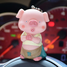 1PC Exquisite Car Bag Comfortable Soft Pig Ball Lovers Trinket lovely key holder Cute Animal Couples Keychain Valentines Gift(China)