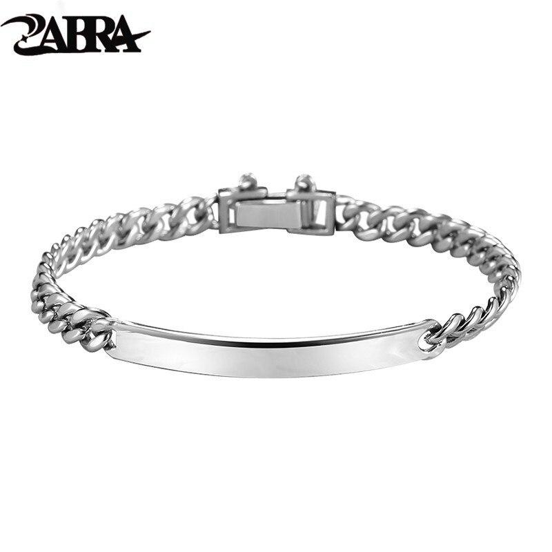 ZABRA 925 Sterling Silver Trendy Men Bracelet Cuban Link Chain Fashion Bracelets For Man Women Gift Jewelry