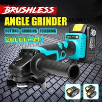 1 or 2 20000mAh Battery Electric Cordless/Brushless Angle Grinder Polishing Machine Cutting Woodworking Power Tool Set 110V220V