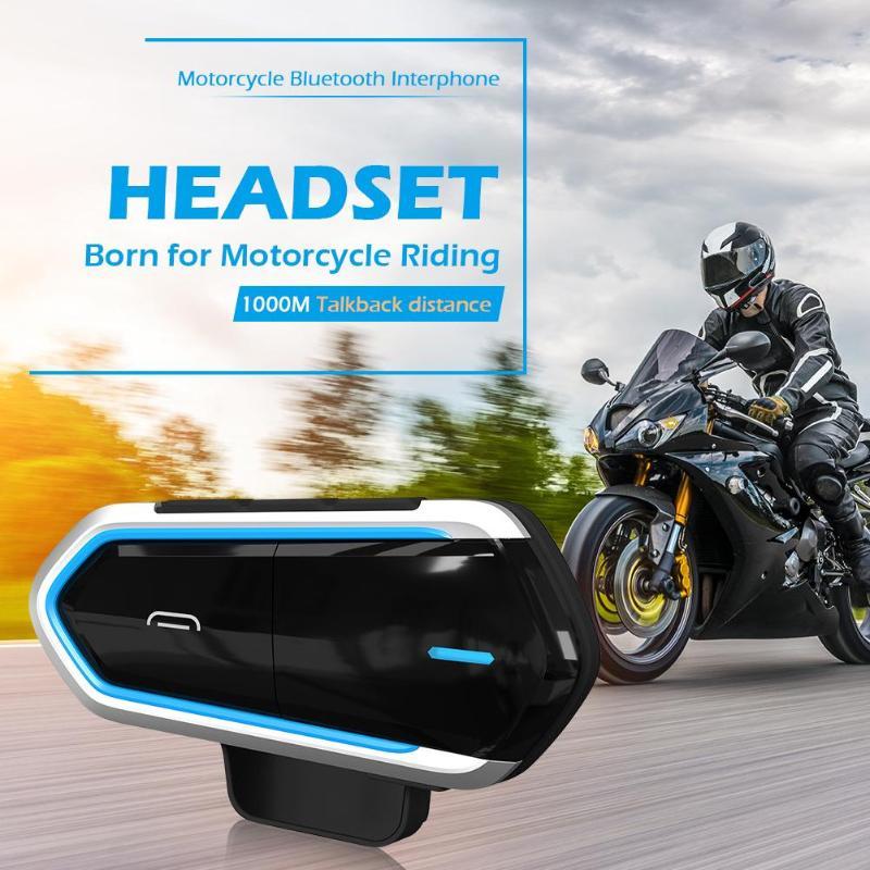 Motorcycle Helmet Headset 450mAh Wireless Bluetooth Intercom BT Interphone
