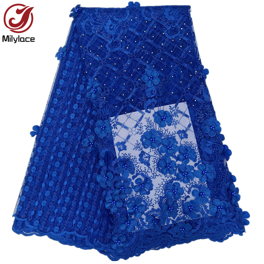 Wholesale price beaded french lace fabric stones African lace fabric pretty tulle laces for party wedding