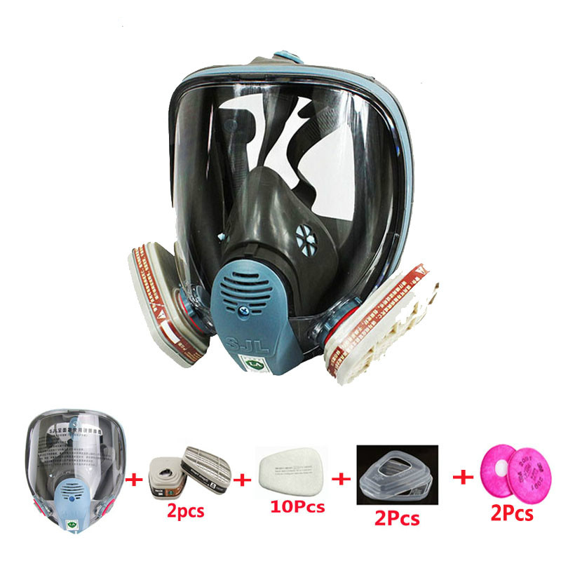 17 in 1 Suit 6800 Safety Full Face Gas Mask Industry Painting Spraying Gas Mask Facepiece Respirator Protective mask 7 in 1 suit industry painting spraying respirator same for 6800 gas mask full face facepiece respirator
