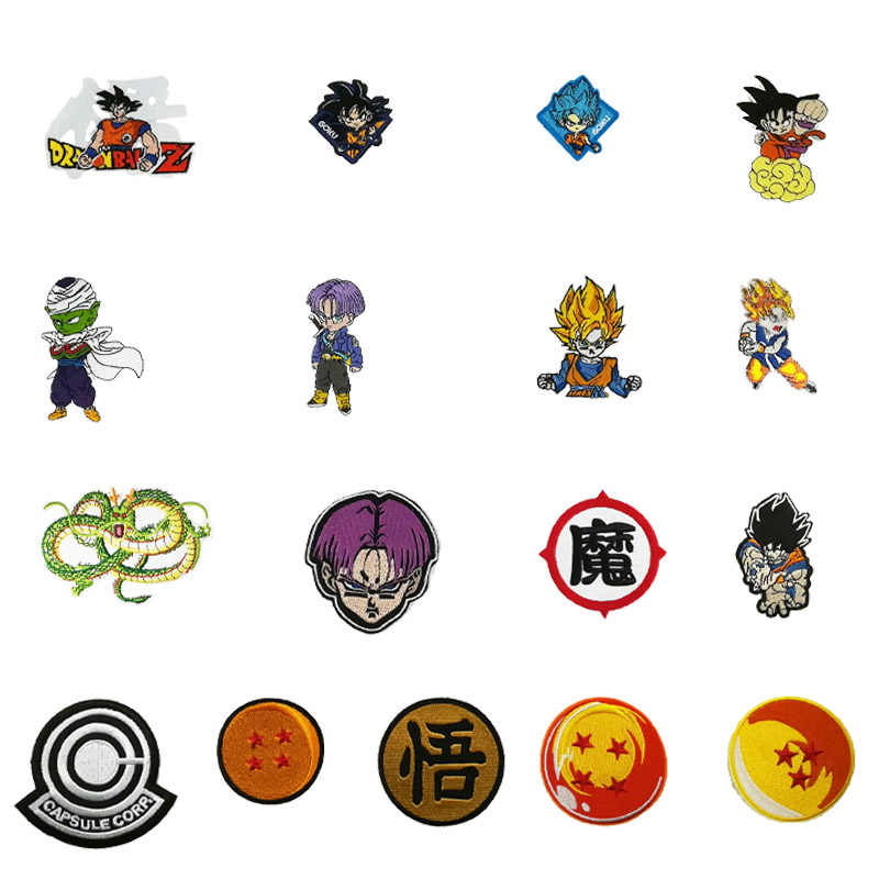 Dragon ball Son Goku Trunks Piccolo Namekian Ball King Piccolo Logo patches for clothing clothes TV MOVIE Costume Embroidered