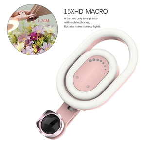 Image 5 - Mobile Phone Camera Lens with Beauty Fill Light Live Selfie Tender Skinny Face Wide Angle External Phone Lens