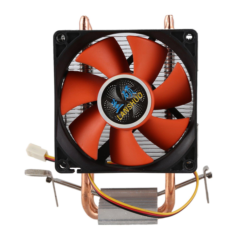 Abile Lanshuo Bs Rame Puro 2 Tubo Di Calore Per 1366 1155 775 Intel/amd Multi-piattaforma Mini Cpu Del Radiatore 3 Filo Senza Luce