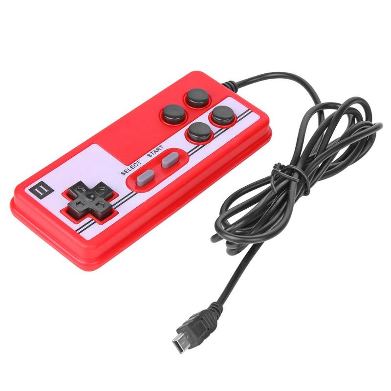 Handheld Game Machines Mini USB Wired Handheld Gamepad Controller Game Console Handle Joystick For Coolboy/ For Subor