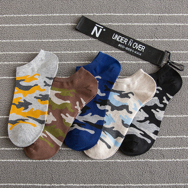 4a41d5abb207 2019 New Fashion Men Socks Camouflage Style Cotton Mountaineering Cozy Socks  Socks Spring Autumn Young Men