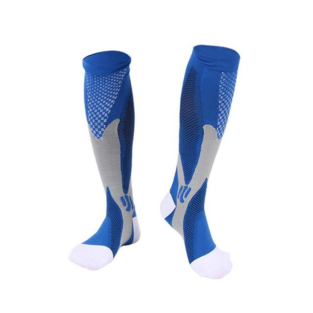 Sports Black Compression Socks For Anti Fatigue Pain Relief Knee 2