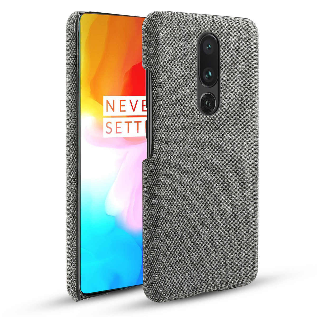 Voor Oneplus 7 7 Pro Case Slim Vintage Geweven Stof Doek Hard PC Cover Voor Een Plus 7 Pro Oneplus 7 6 6T 6T 5G Case Shockproof