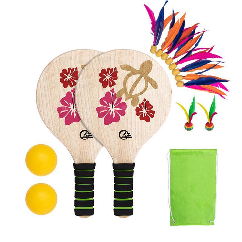 Begeistert Neue Strand Paddle Ball Spiel Set Strand Paddle Badminton Schläger Indoor Und Outdoor Badminton Spiel Battledore Für Alle Menschen