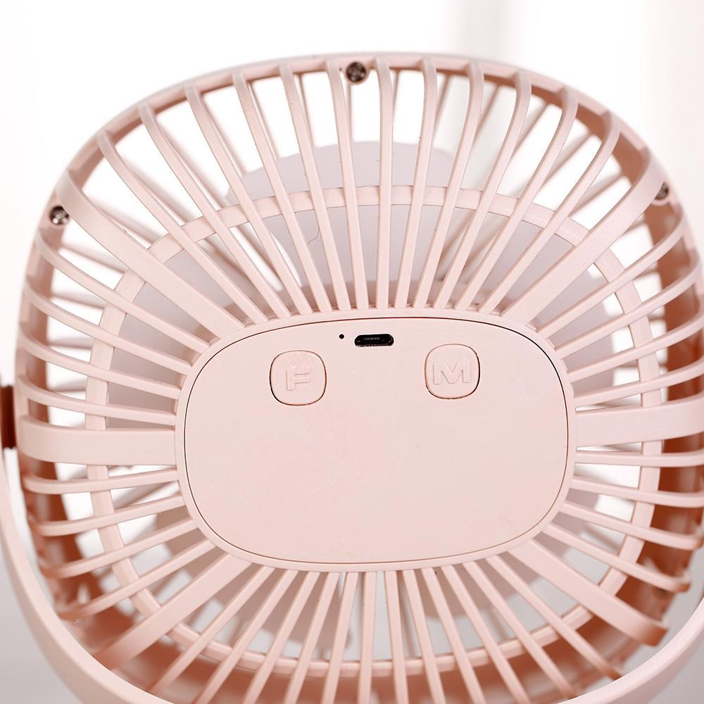 ACEVIVI Mini USB Rechargeable Air Cooling Fan Portable Desktop Clip Desk Fan + Light for Dual Use Home Office Student Dormitory