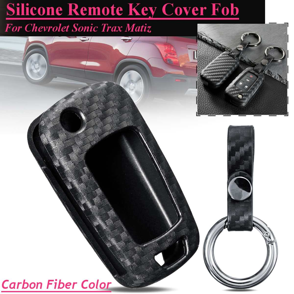 Car Styling Carbon Fiber Car Remote Smart Key Case Cover For Chevrolet Camaro Cruze Equinox Malibu Sonic Spark Volt Key Case Big Clearance Sale Key Case For Car