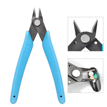 Nail Art Tool 1pcs Diagonal Side Flush Cutter Shears Nipper Repair Mini Plier Cutting Metal Chains Rhinestones Cuticle Scissors