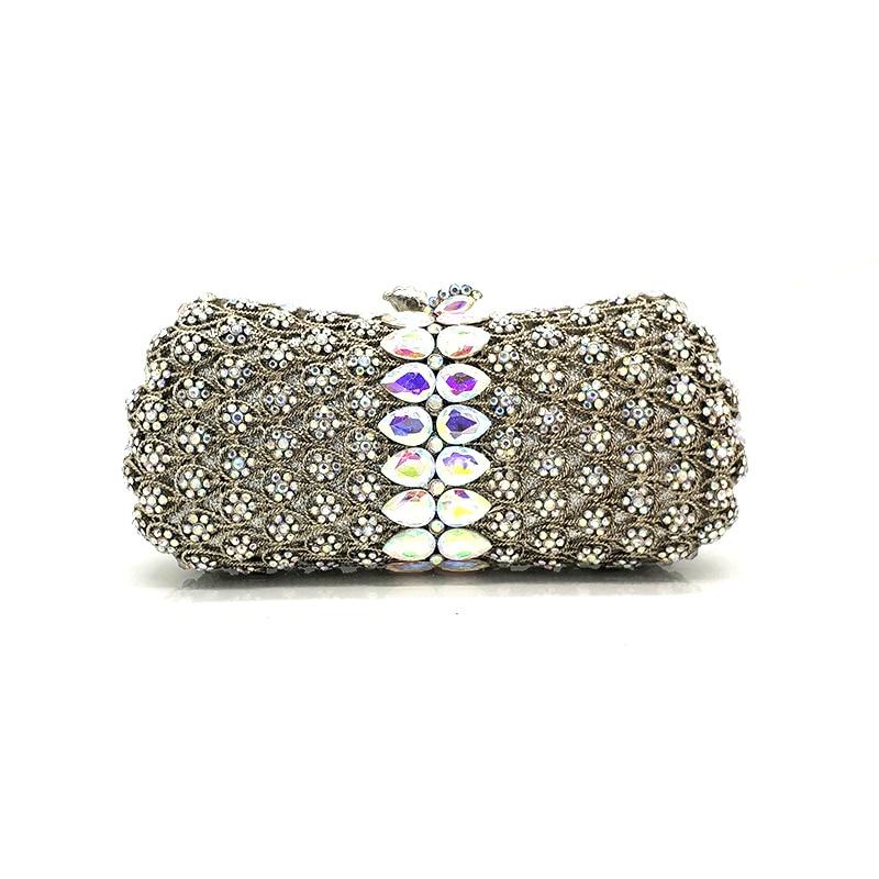Elegant women evening party handbag diamonds luxury wallet clutches ladies crystal purses bridal wedding party purses