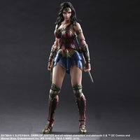 Birthday Toy Gift DC Justice League Action Figure Collection 25cm PA Wonder Woman Model Doll Movable Decorations