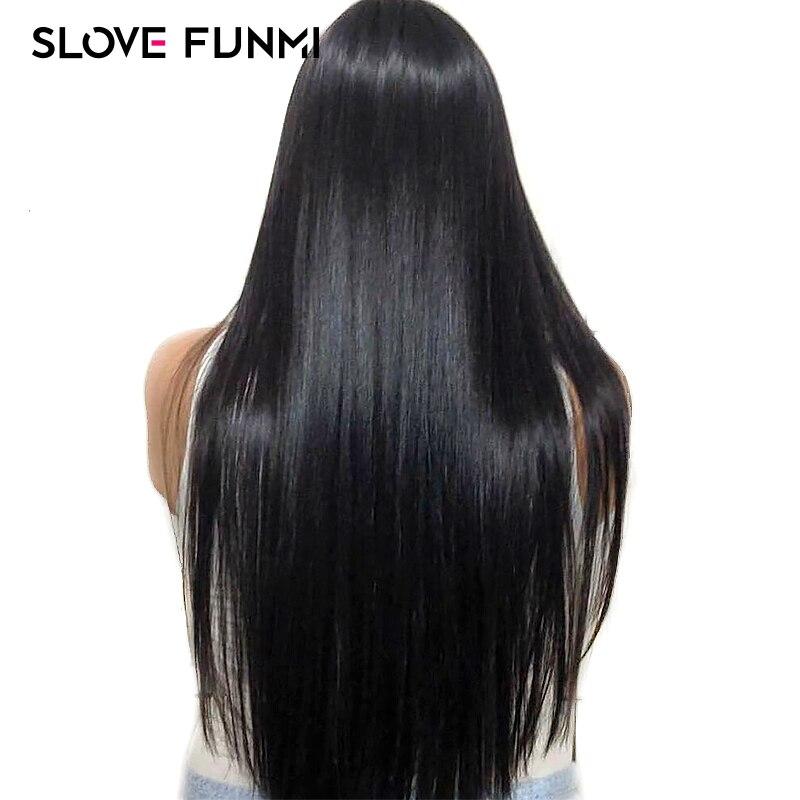 Prosto koronki przodu włosów ludzkich peruk dla czarnych kobiet brazylijski peruki z włosów typu remy bielone węzłów Pre oskubane z dzieckiem włosy Slove w Peruki z ludzkich włosów na siatce od Przedłużanie włosów i peruki na AliExpress - 11.11_Double 11Singles' Day 1