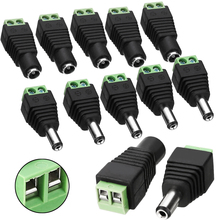 10PCs/Set Male + Female DC Power Jack Adapter Plug Connector for CCTV Cable 12V 38*13*11mm 38.4*14.8*11.5mm Mayitr free shipping 10pair 10pcs female 10pcs male male female 5 5 x 2 1mm dc power 12v 24v jack adapter connector plug cctv