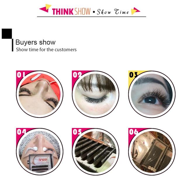 NEWCOME 10 trays/lot All Sizes Individual Eyelash Extension Natural False Mink Russian Volume Eyelash Extensions Makeup Cilia 6