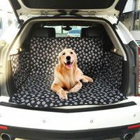 Pet Carriers Oxford Fabric Car Pet Seat Cover Waterproof Rear Back Pet Dog Car Seat Cover
