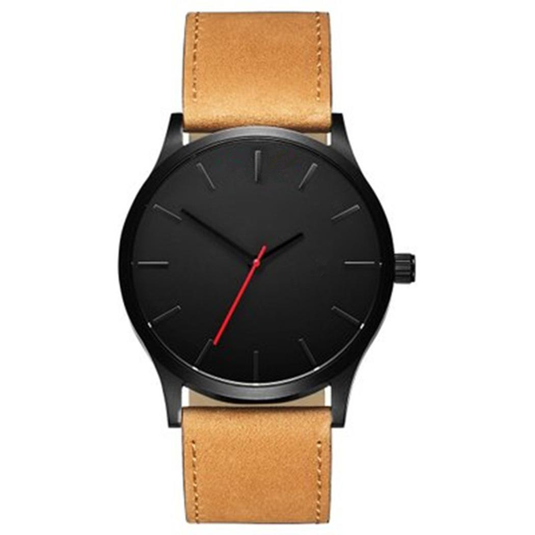 To Quartz Read Synthetic 5inch 24cm Analog 9 Watch Leather Band Easy Wrist Schedule Bracelet Round Men Complete FashionTo Quartz Read Synthetic 5inch 24cm Analog 9 Watch Leather Band Easy Wrist Schedule Bracelet Round Men Complete Fashion
