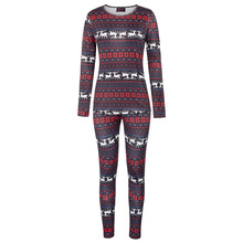 Women Christmas Pajamas Sets Snowflake Shirt Tops+Pants 2pcs Sleepwear  Nightwear(China) 9cb42f4d2