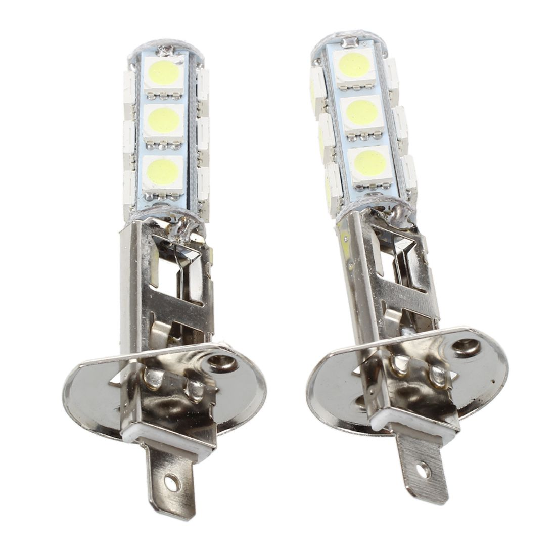 2 Pcs Auto Light Headlight Lamp H1 White 13 SMD 5050 LED Chips