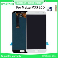 5.5'' for Meizu MX5 M575M M575U LCD Screen Display+touch Panel Digitizer Assembly Black White For Meizu MX5 LCD