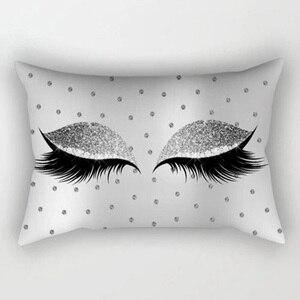 Image 4 - Marka Yeni Stil Yaratıcı Kirpik Polyester Yastık Kılıfı Bel Atmak Ev Dekor