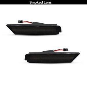 Image 2 - IJDM marqueur frontal, feux pour Chevy Camaro, 12V ambre, LH RH, alimenté par 26 lumières de SMD LED, 2010, 2015