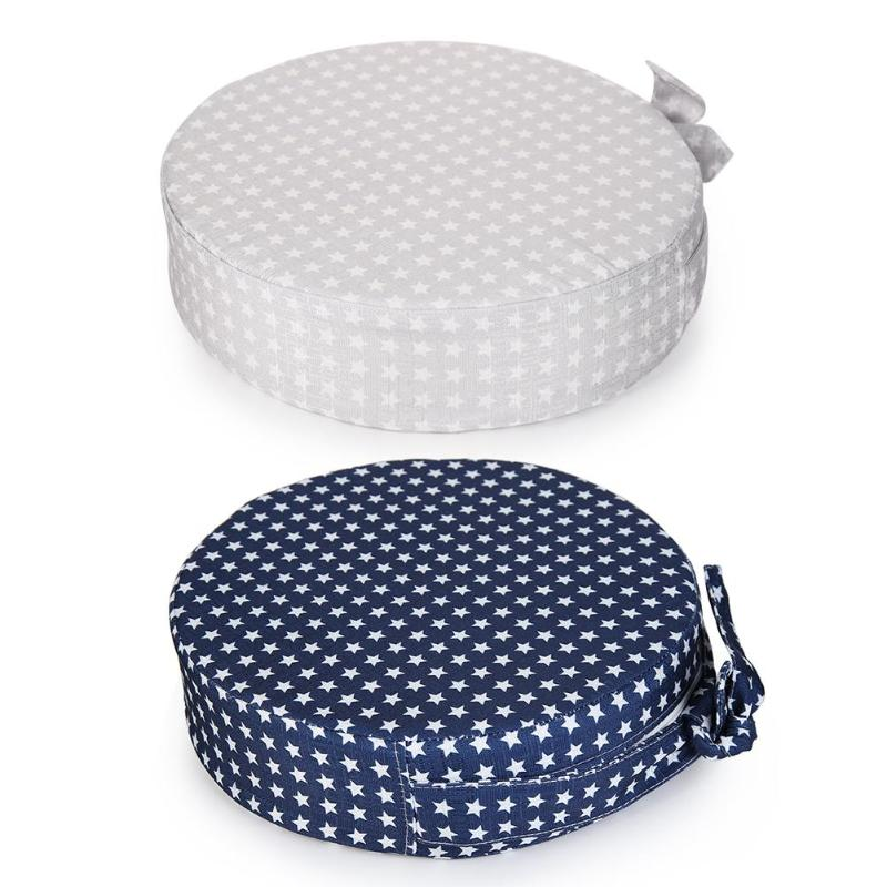 Baby Children Booster Seat Pad Stars Print Round Detachable Seat Baby Dining Chair Cushion Booster Mats 31*7cm