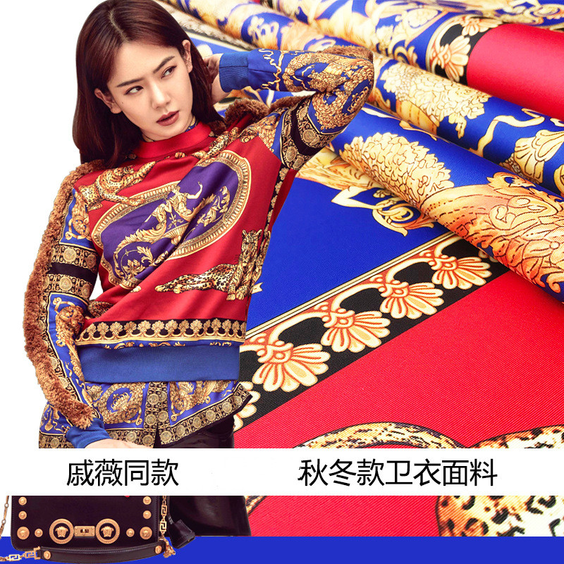 New fashion autumn and winter models handmade DIY digital printing clothing sweater fabric a positioning 140cm