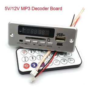 Image 1 - 5V/12V MP3 Decoder Board Player With Display Dual Channel Without Power Amplifier Remote Control FM Power Off Memory