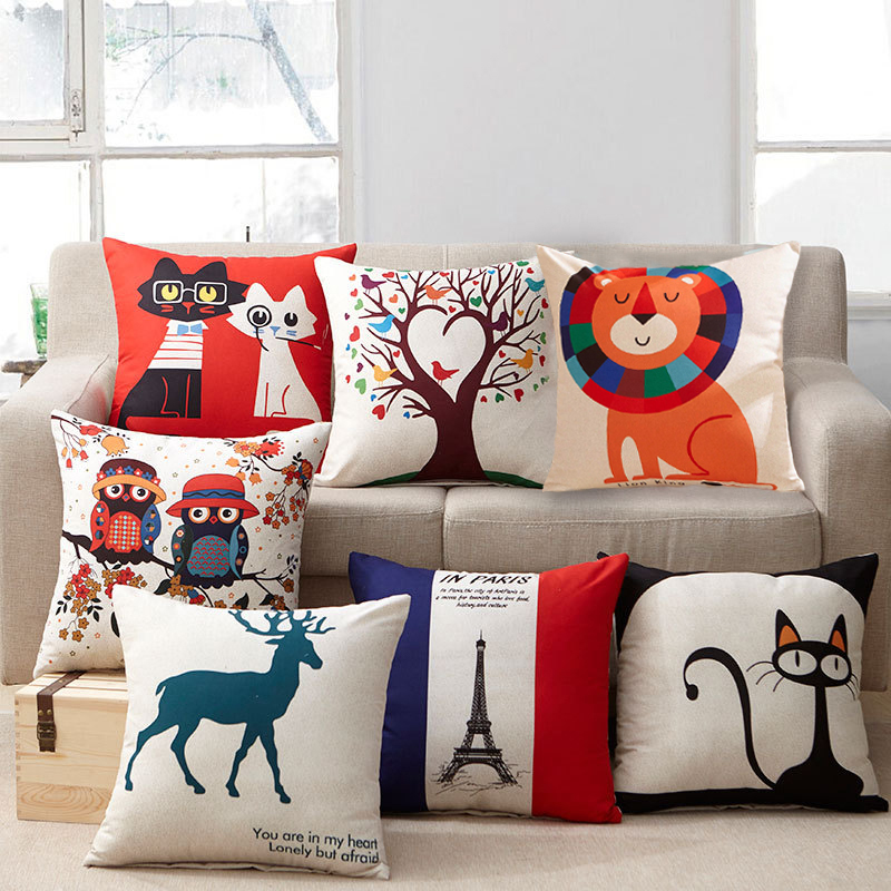 Cartoon Pillow Cover Home Hot Sale 1PC Animal Sanding Pillow Case For Room High Quality Printed Popular