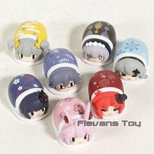 Figura de ação modelo colecionável 7 pçs/set, brinquedos de pvc com impacto honkai 3, kiana kaslana, raiden, mei, bronya, pochik, murata, himeko