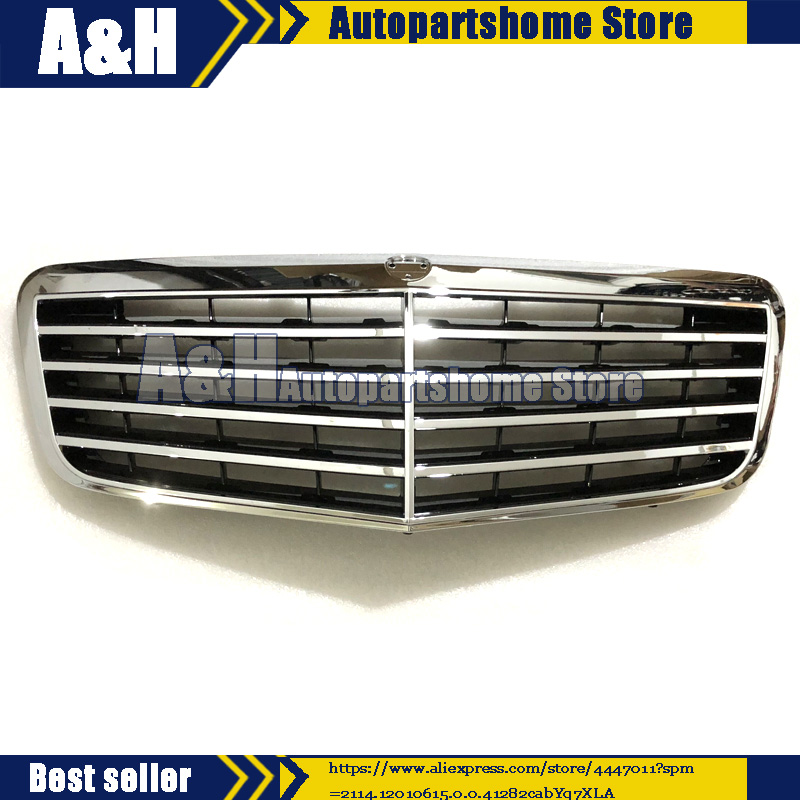 Front ALL Silver <font><b>Grille</b></font> AMG For <font><b>Mercedes</b></font> E/<font><b>W211</b></font> E320 E550 E350 E55 E63 2007-09 image
