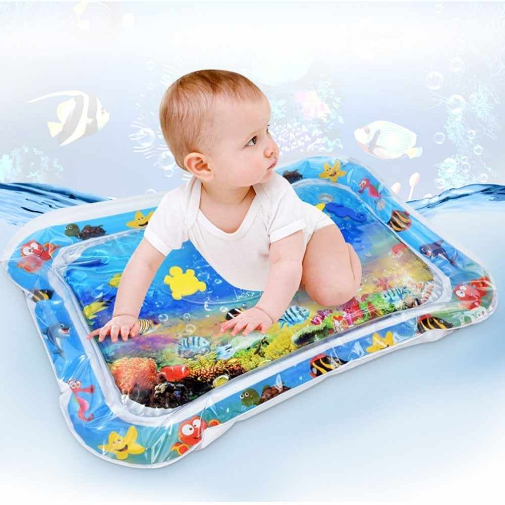 Baby Water Play Games Carpet Gym Kids Puzzles Mat Inflatable Thicken Infant Playmat Toddler Fun Cushion Prostrate Patted Pad