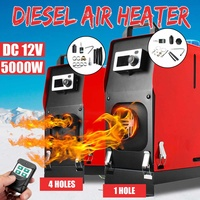 12V 5KW All in One Diesels Air Heater 1 / 4 Holes LCD Parking Heater Car Bus Trucks Planar Warming + Remote Controller