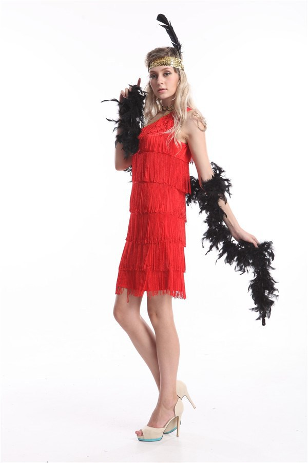 FREE SHIPPING zy459 Adult Sexy Roaring 20 s Sequin Black Flapper Dress  Costume with headband aa1a31bf2429