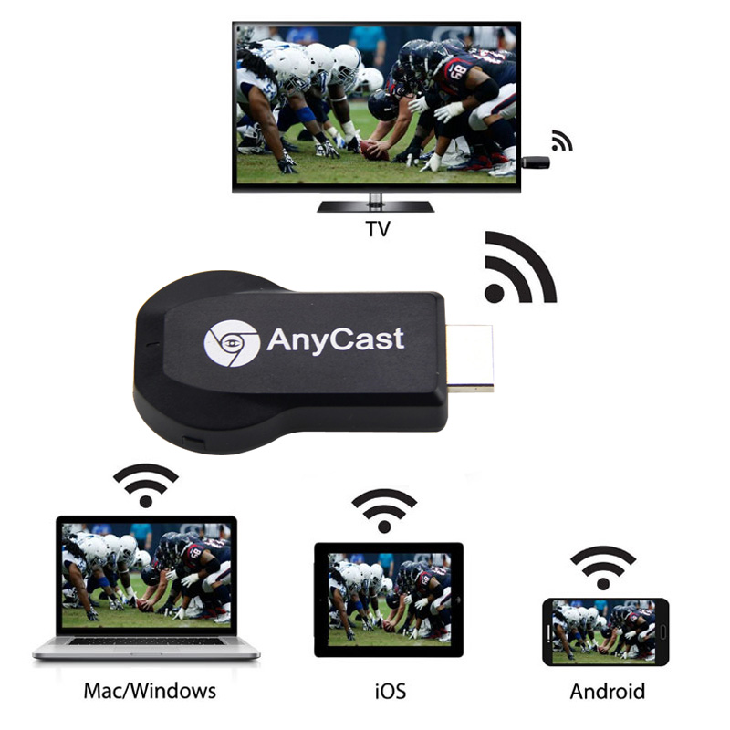 HD 1080P AnyCast M2 Plus Airplay Wifi Display TV Dongle Receiver DA Easy Sharing Mini TV Stick for Android IOS WIO  SD99
