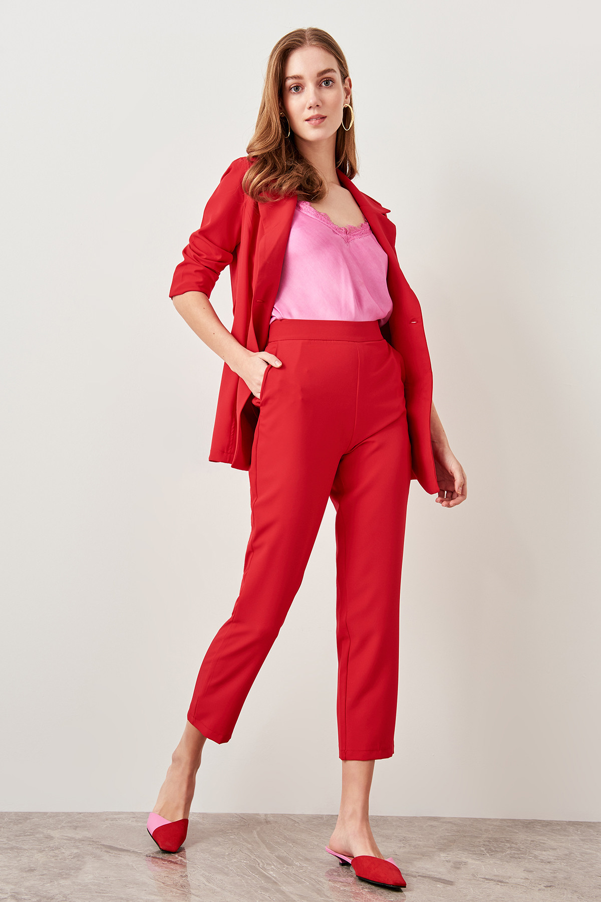 Trendyol Red Carrots Cut Trousers Pants TCLSS19AP0030