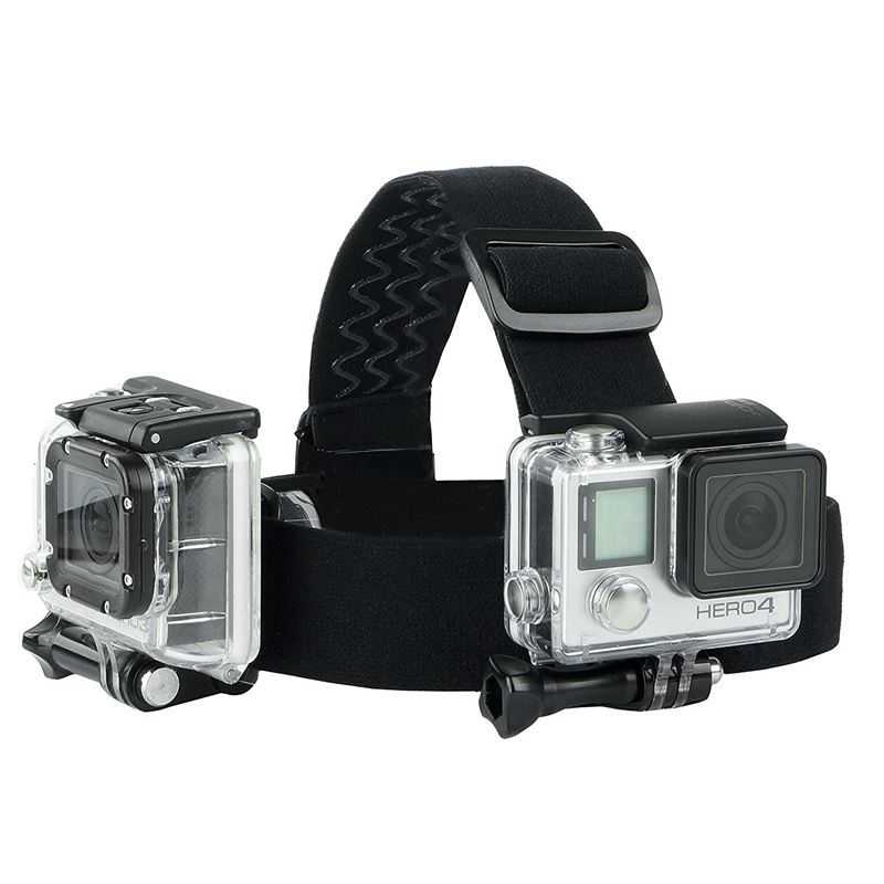 Replacement Head and Backpack Mount Bundle Compatible with GoPro Hero 7 6 5 Black Session Hero 4 Hero LCD 3 3 2 1 in Camera Strap from Consumer Electronics