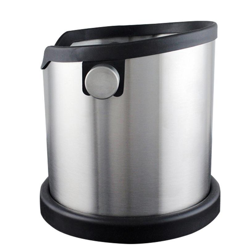 Stainless Steel Bucket Silicone Coffee Powder Slag Box Knocking Coffee UtensilsStainless Steel Bucket Silicone Coffee Powder Slag Box Knocking Coffee Utensils