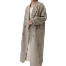 Winter Woman Jacket Coat Female 2018 Long Thick Double-Faced Woolen Windbreaker Women Thin Overcoat Cashmere Coats Femme Mujer цена