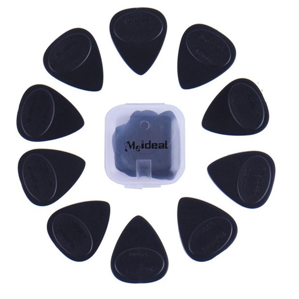 10pcs/set Guitar Picks Different Thickness Guitar Bass Celluloid Pick Electric Guitarra Plectrums Accessories With Plastic Box